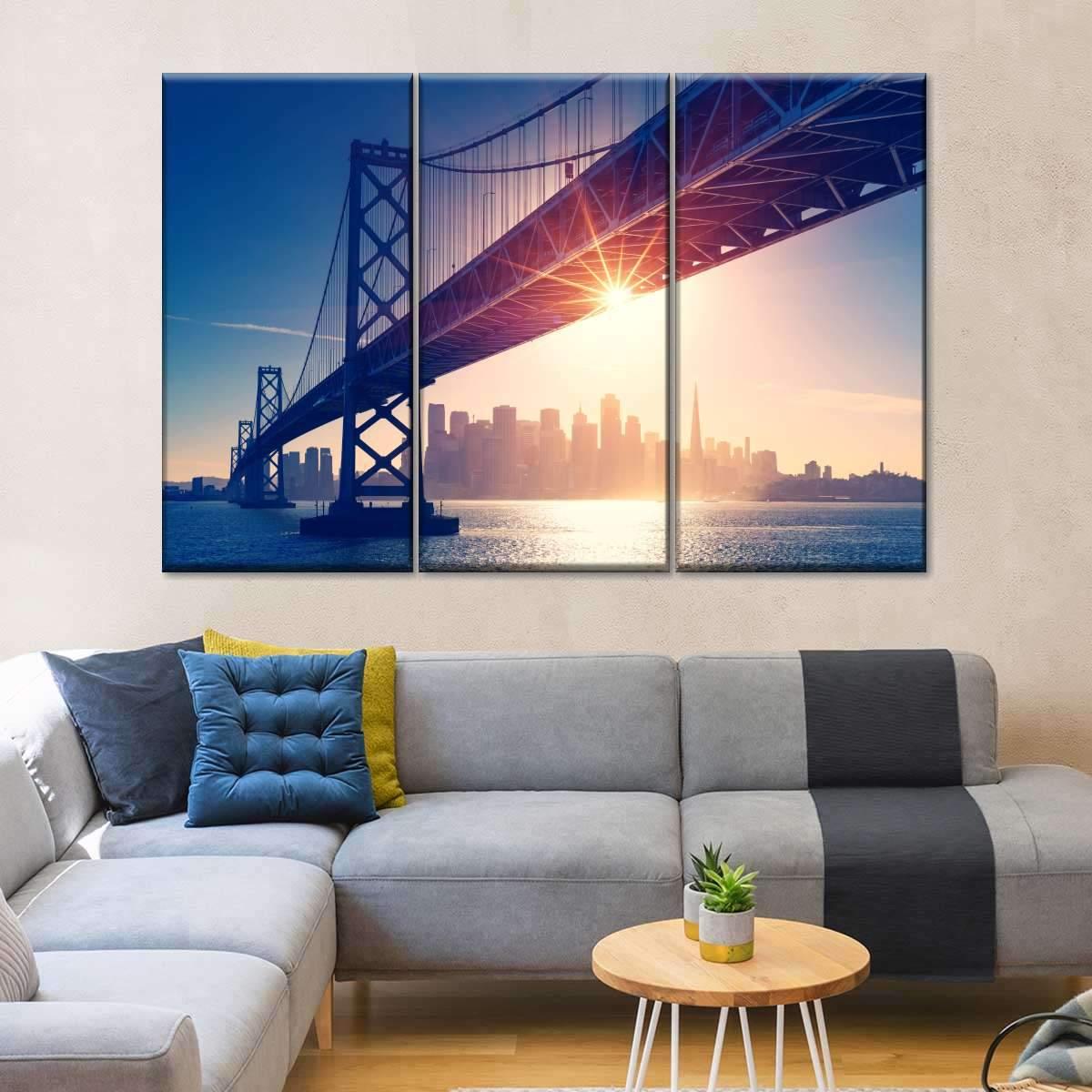 Bay Bridge Multi Panel Canvas Wall Art