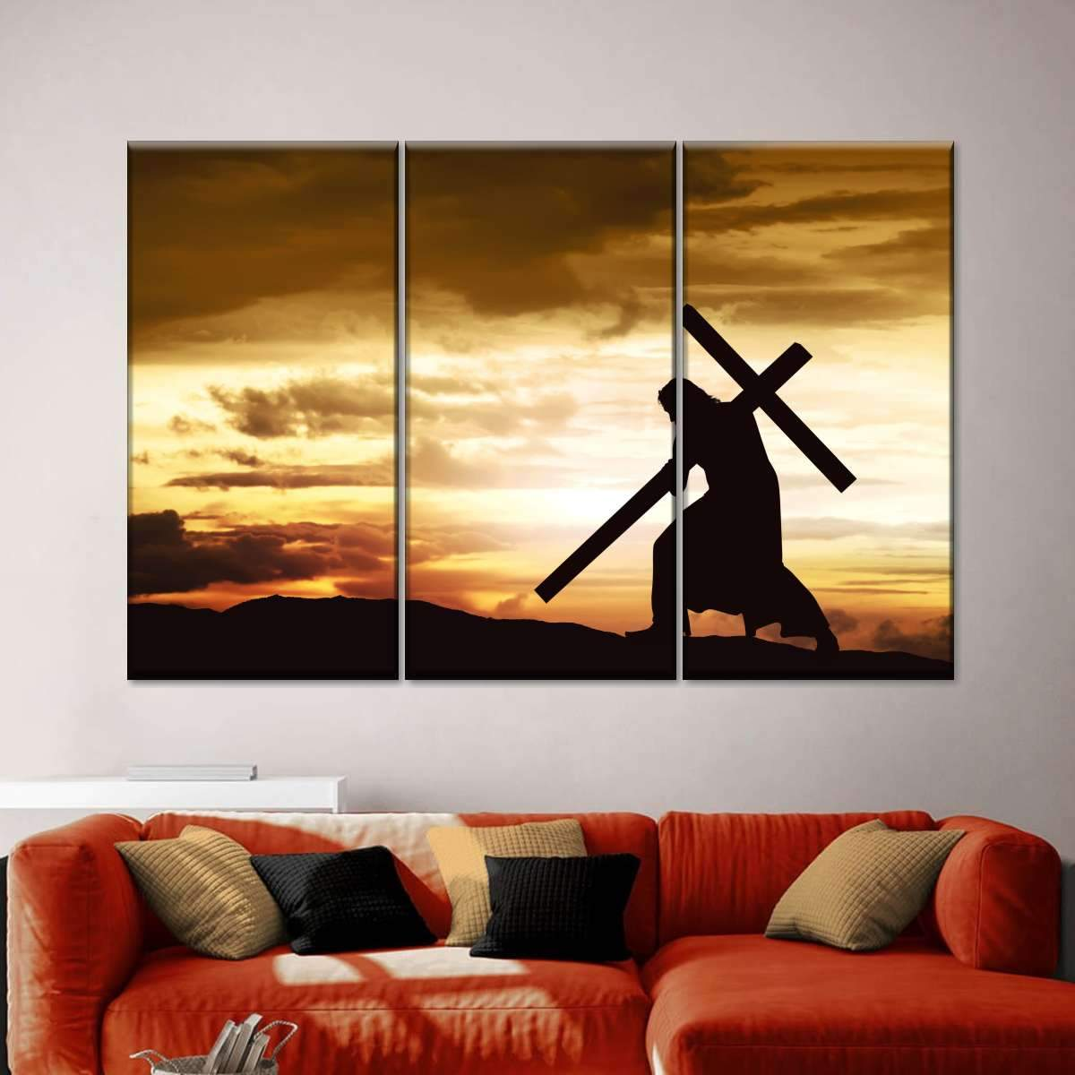 The First Cross Multi Panel Canvas Wall Art
