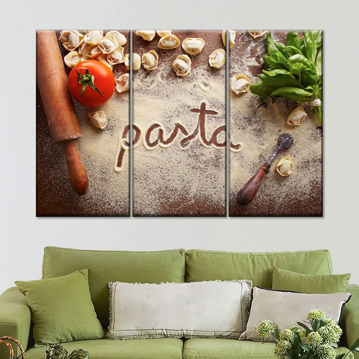 Pasta Basta Multi Panel Canvas Wall Art
