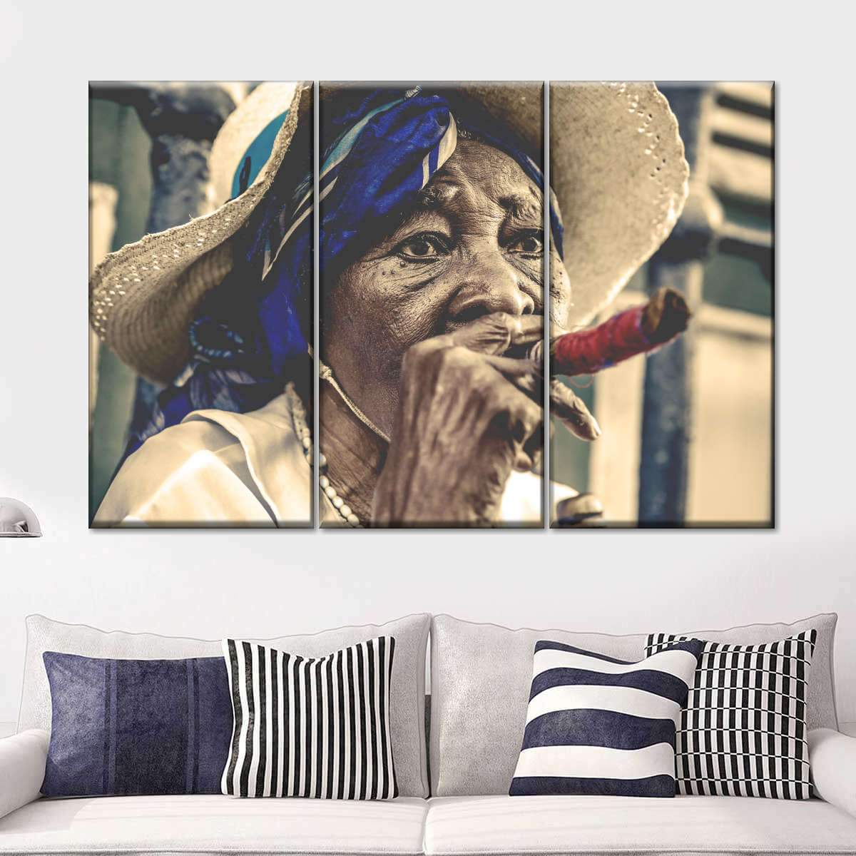 Cuban Woman Multi Panel Canvas Wall Art