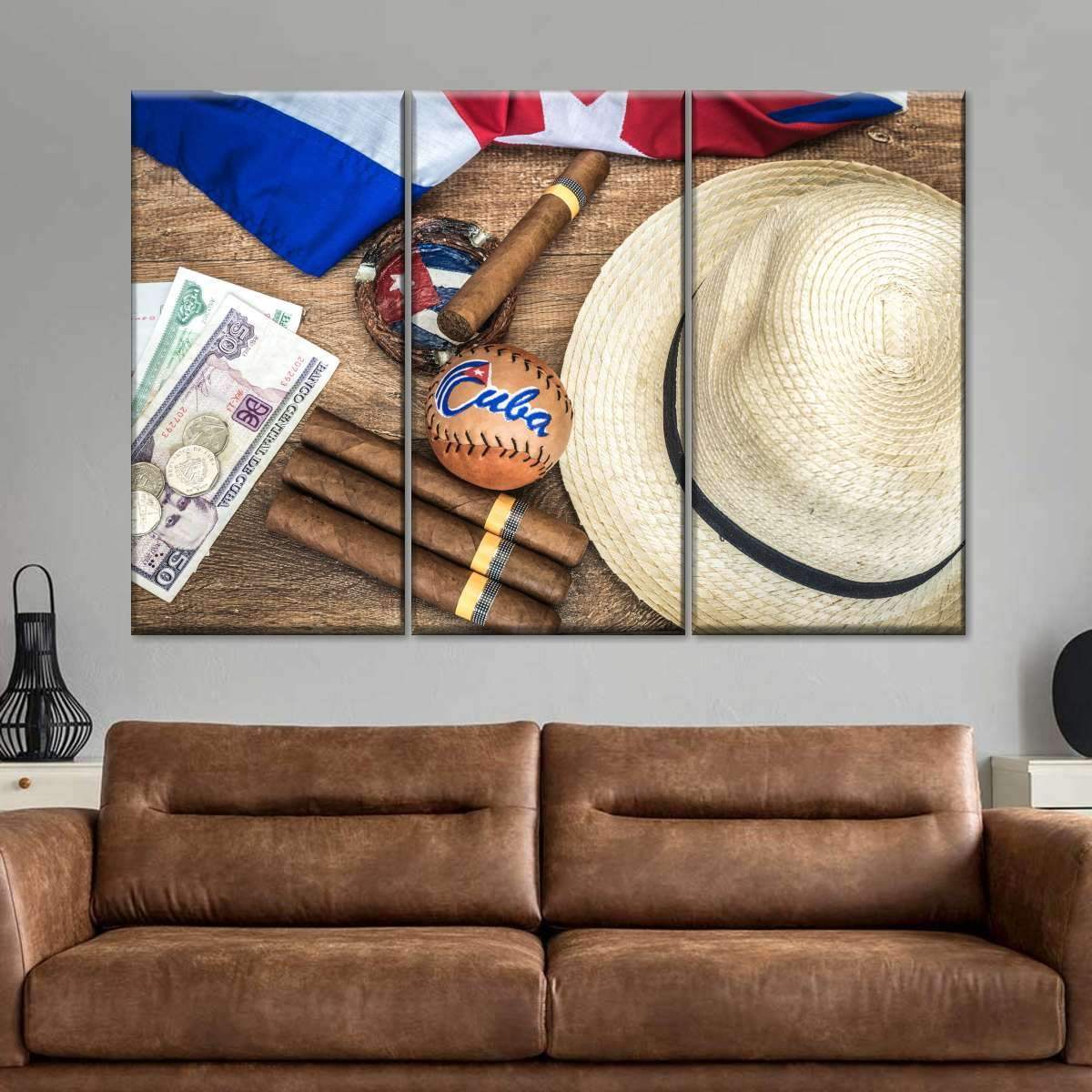 Cuban Vacation Multi Panel Canvas Wall Art