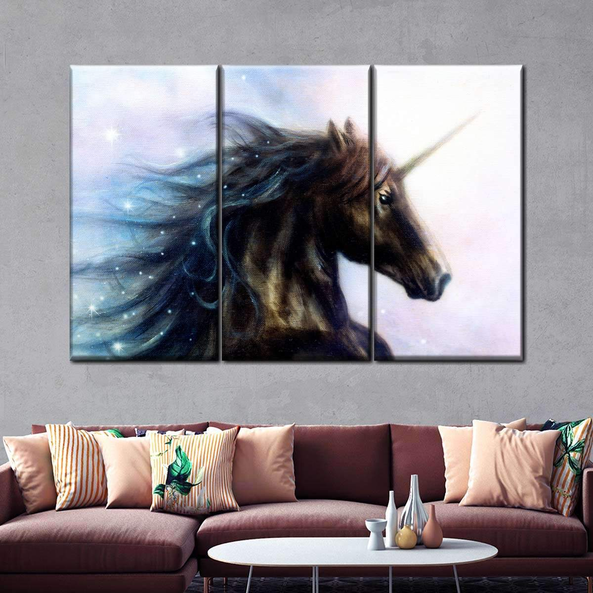 Unicorn Multi Panel Canvas Wall Art