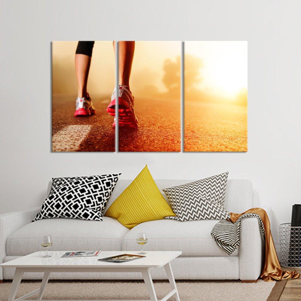 Morning Run Multi Panel Canvas Wall Art
