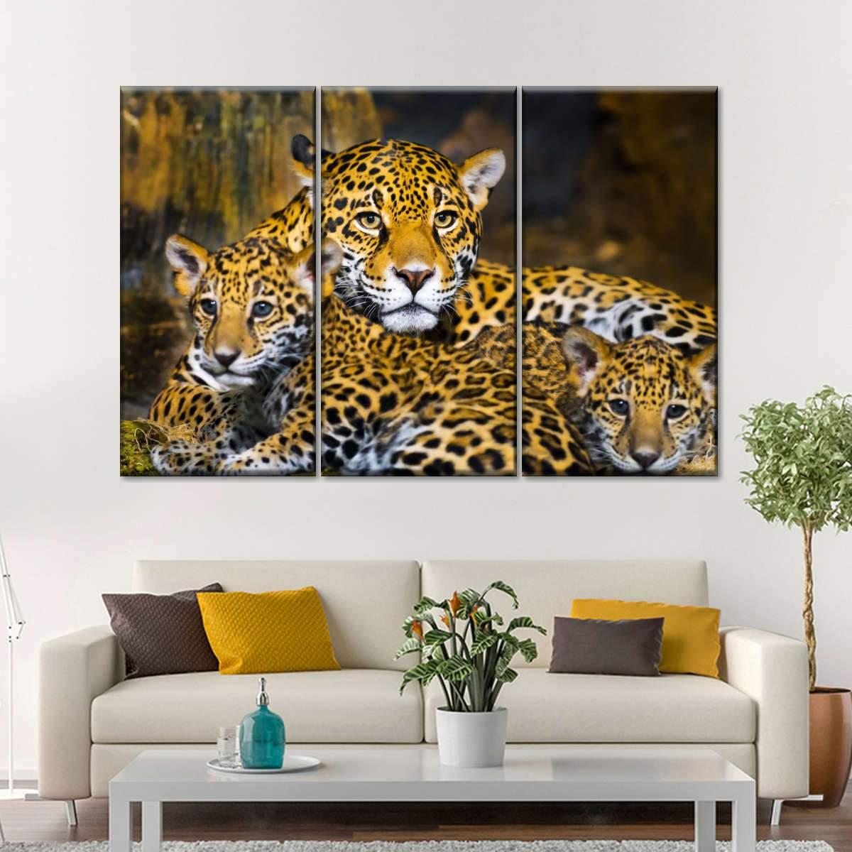 Baby Jaguar Multi Panel Canvas Wall Art