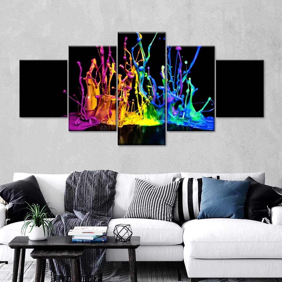Color Splash Multi Panel Canvas Wall Art
