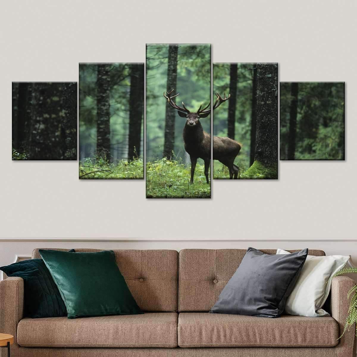 Elk Hunting Multi Panel Canvas Wall Art