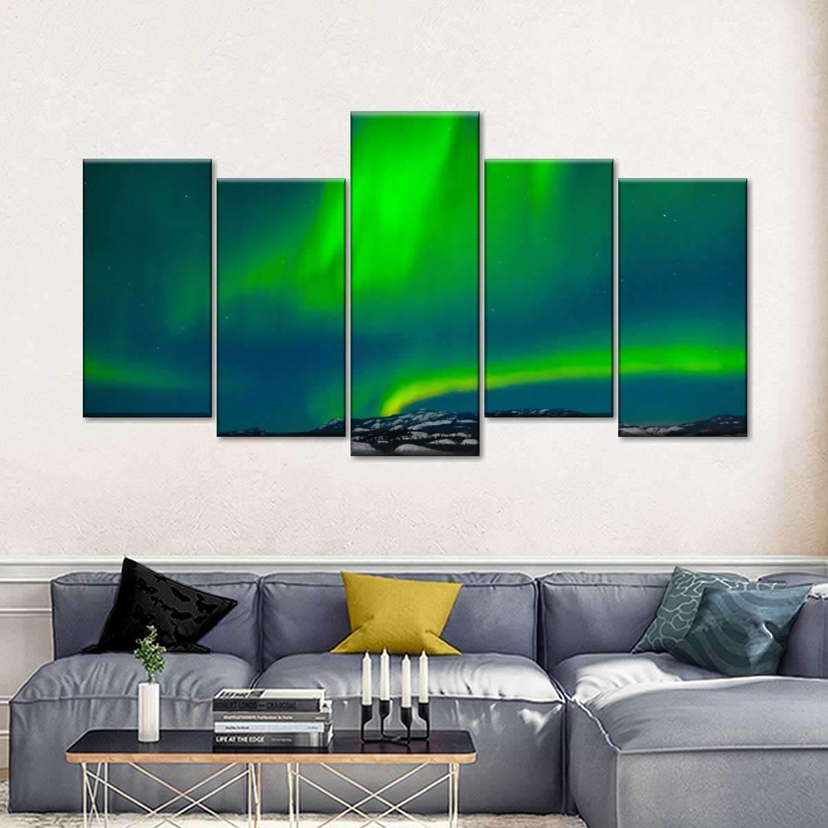 Aurora Borealis Multi Panel Canvas Wall Art