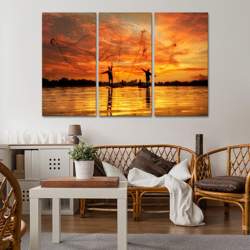 Fishing Net Multi Panel Canvas Wall Art
