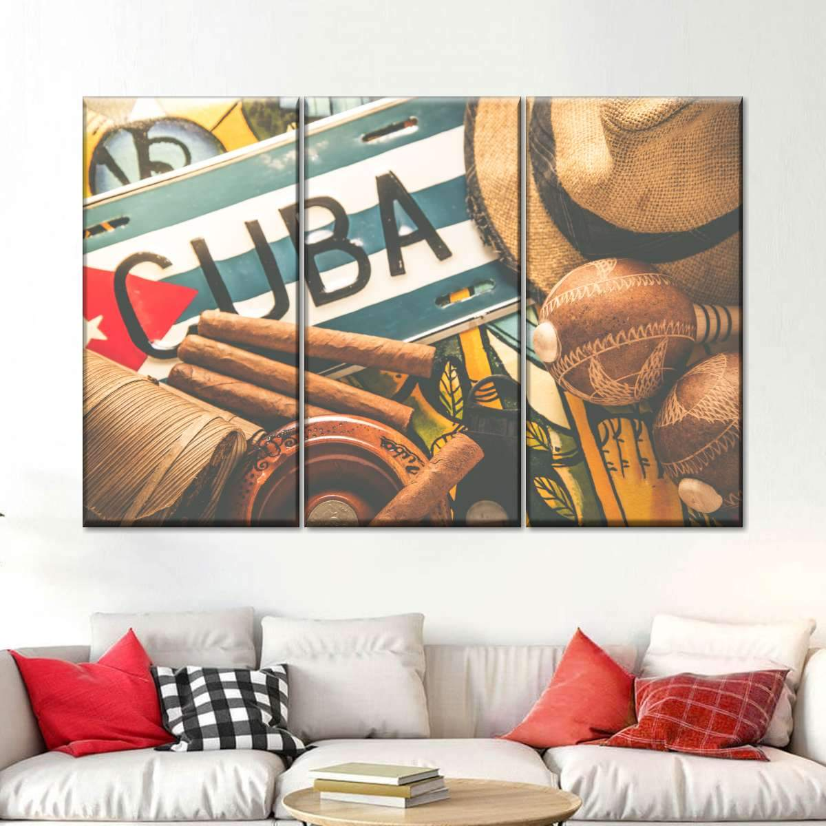 Cuban Pride Multi Panel Canvas Wall Art