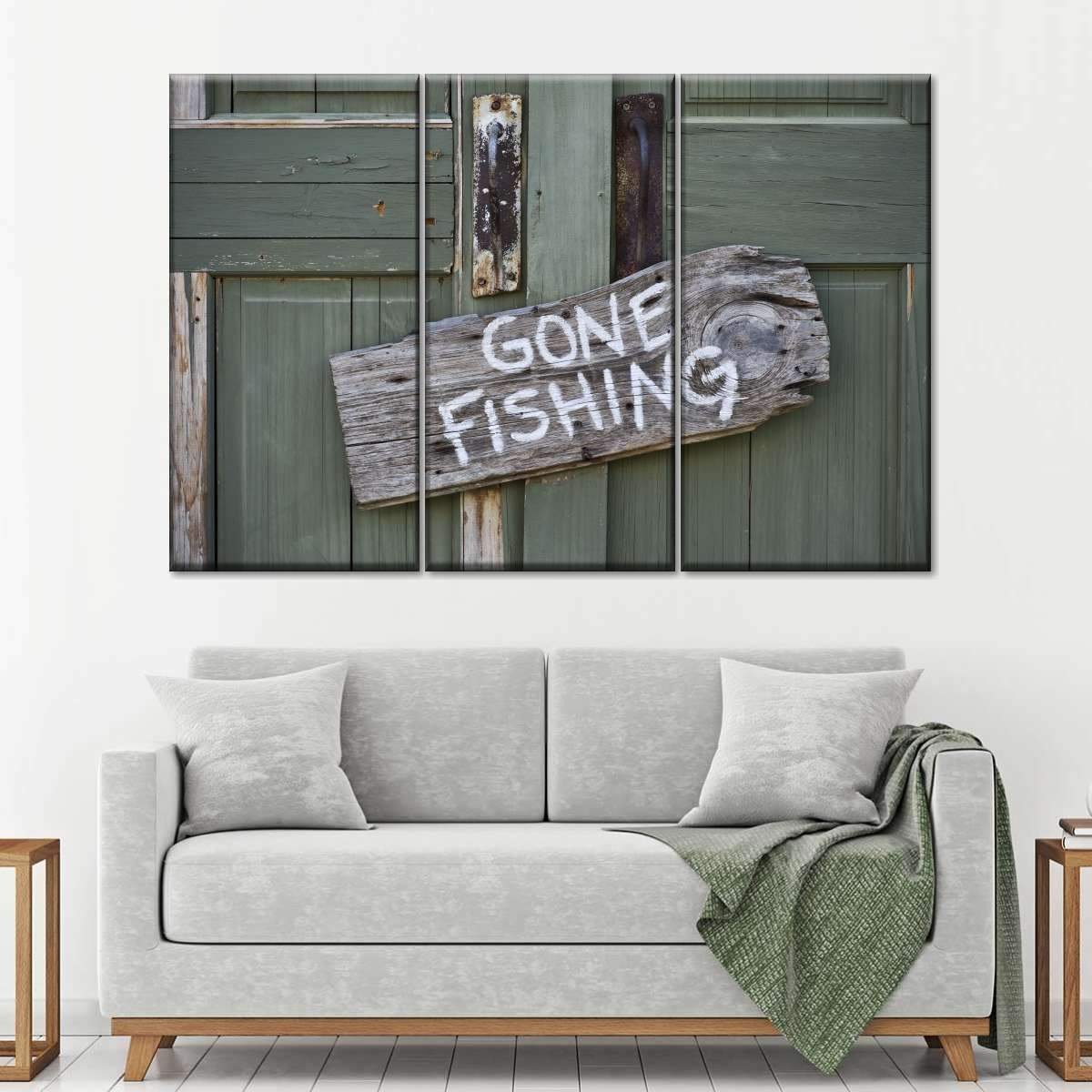 Gone Fishing Multi Panel Canvas Wall Art