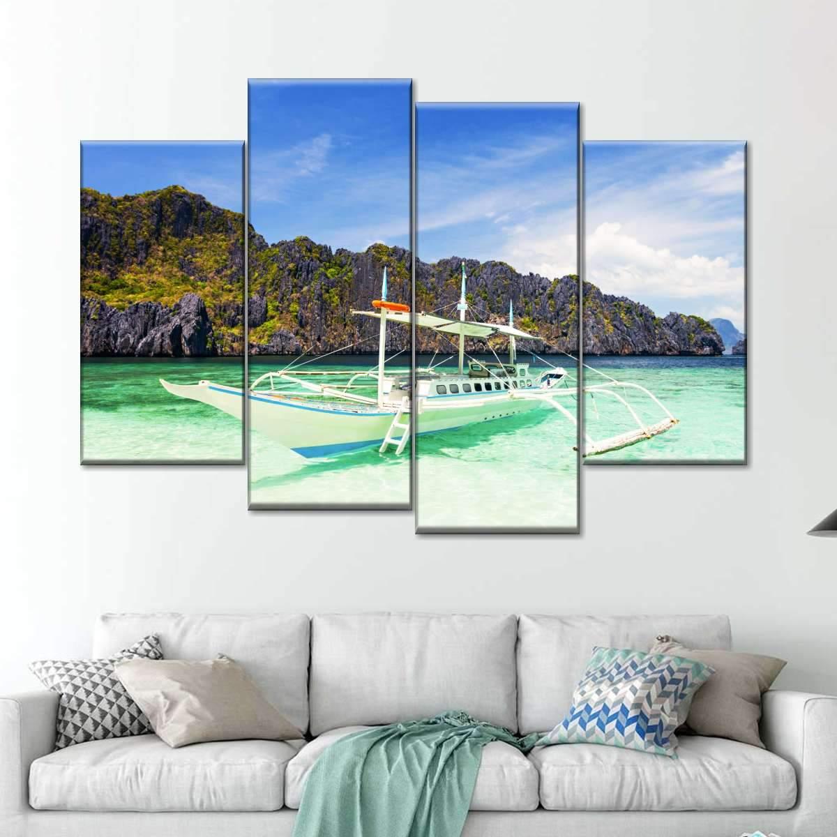 Filipino Boat Multi Panel Canvas Wall Art
