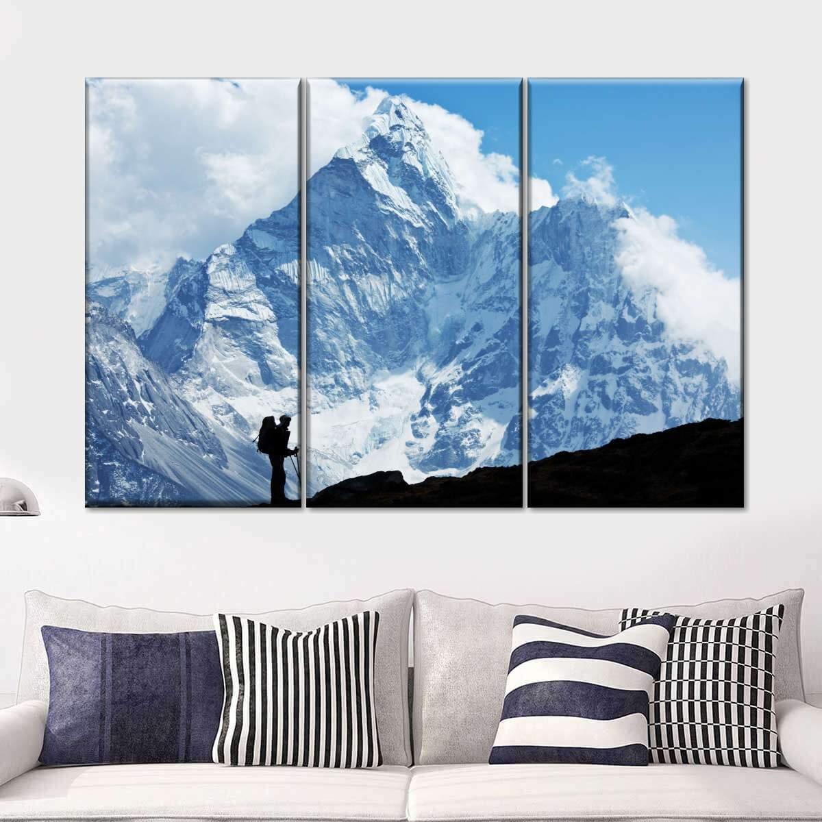 Everest Highest Peak Multi Panel Canvas Wall Art