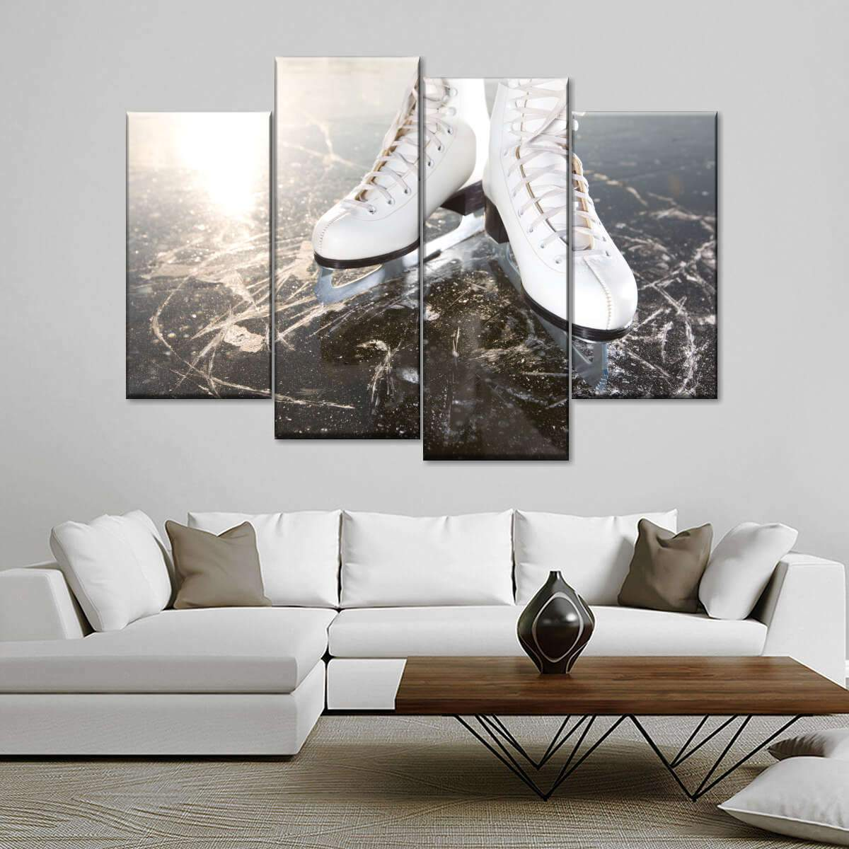 Ice Skating Multi Panel Canvas Wall Art