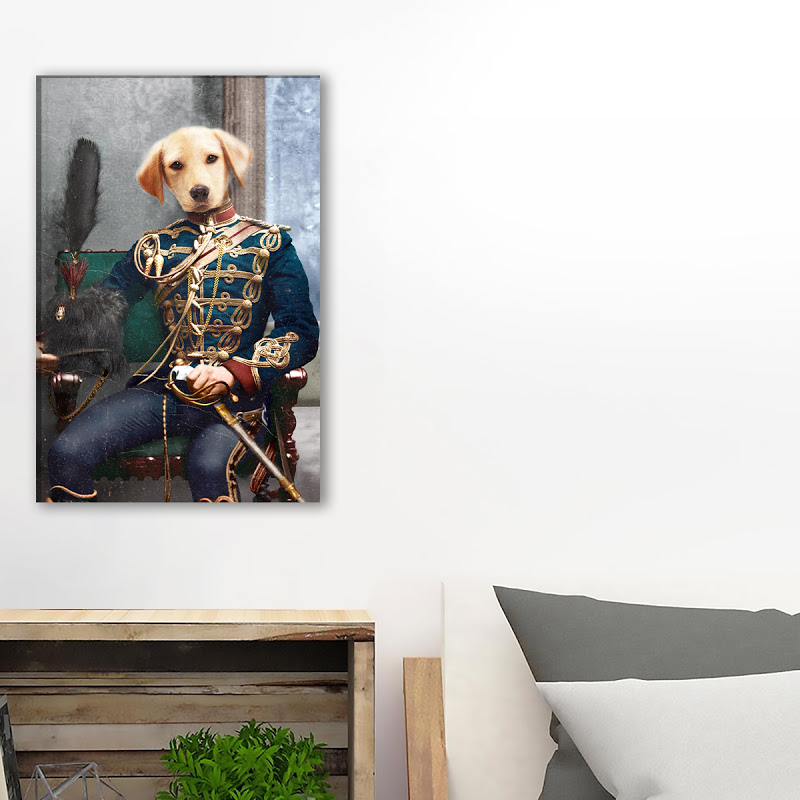 Labrador In Sitting Custom Canvas