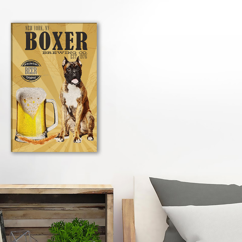 Boxer Brewing Co Canvas