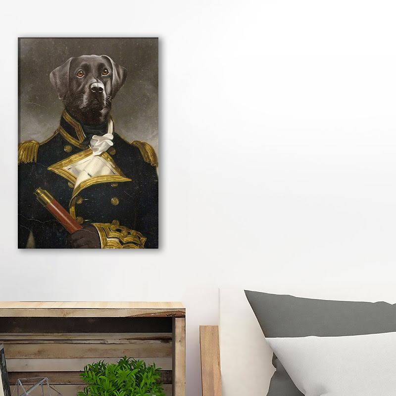 Labrador Hold Your Horse Canvas