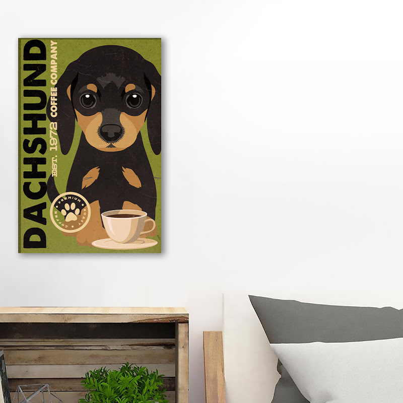 Dachshund Coffee Company Canvs