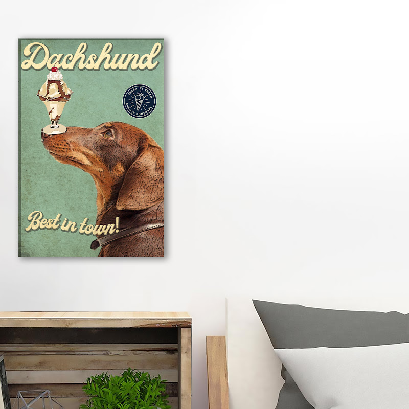 Dachshund Ice Cream Parlour Canvas