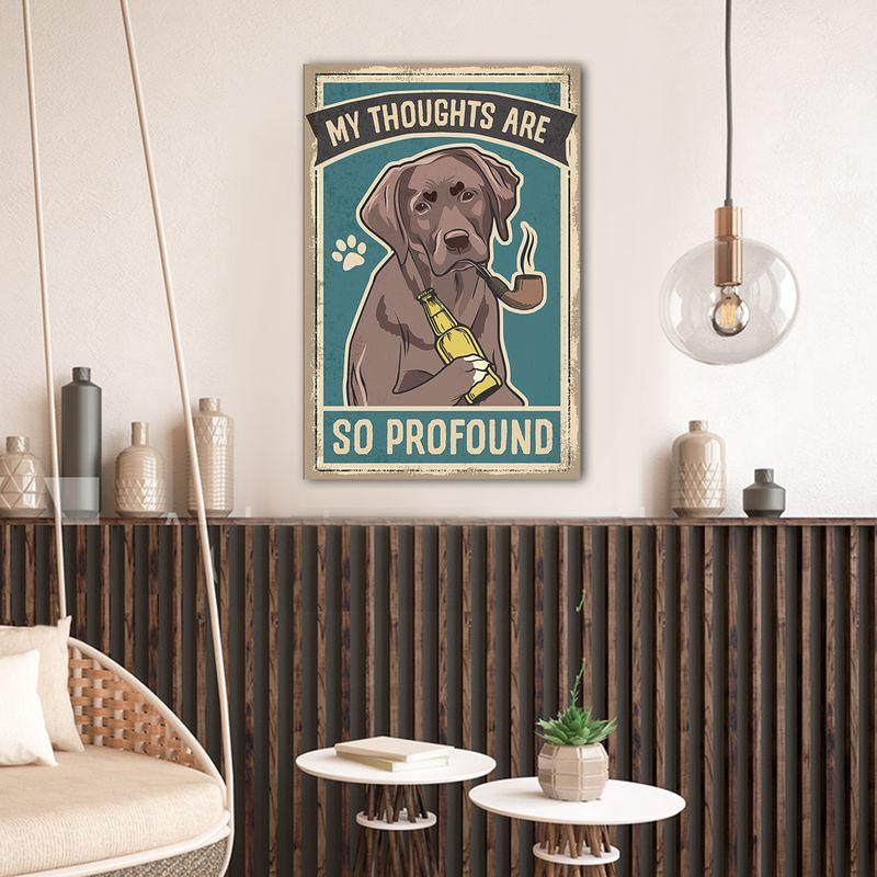 Labrador Thoughts Vintage Canvas