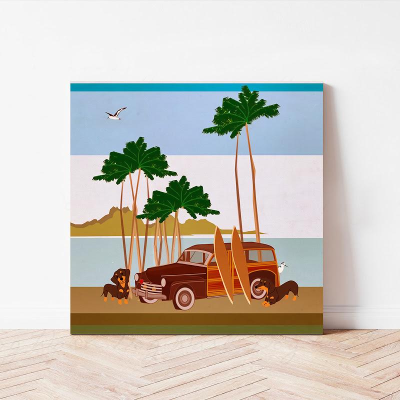 Beach Dog Canvas