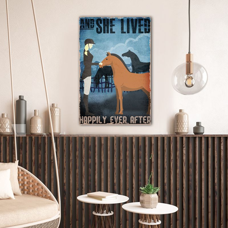 And She Lived Happily Ever After Horses Canvas