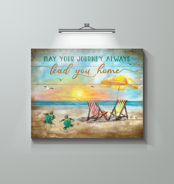 Canvas - Turtle - May Your Journey Always Lead You Home