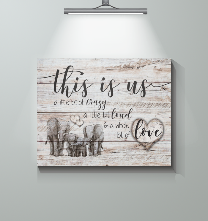 Elephant - Family This Is Us - Canvas