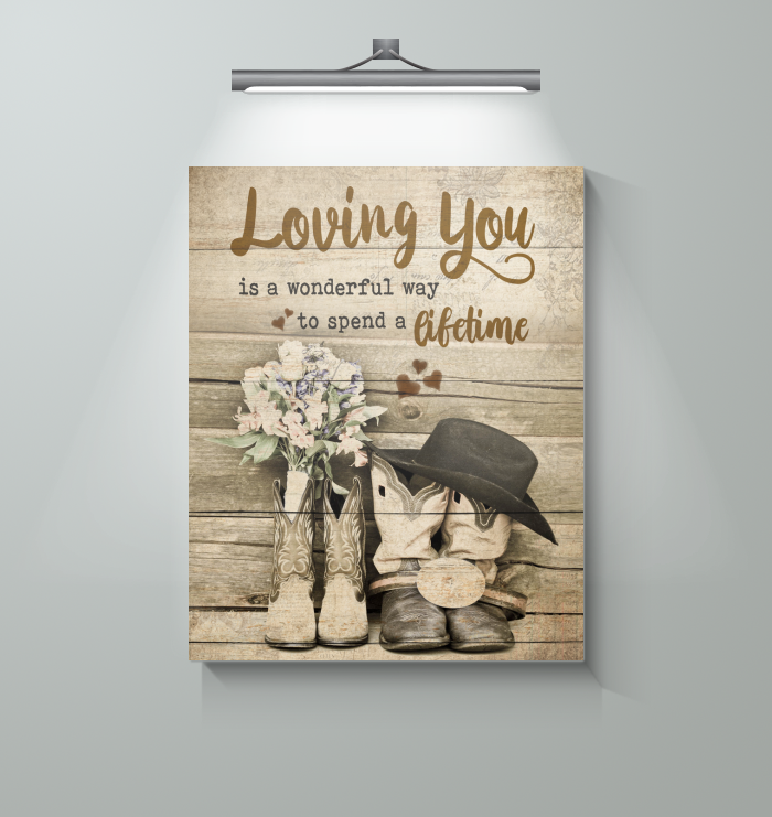 Hunting - Loving You In A Life Time - Canvas