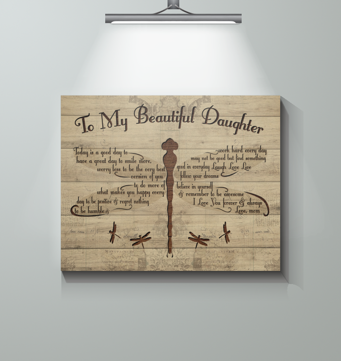 Mother Daughter - Today Is A Good Day-canvas