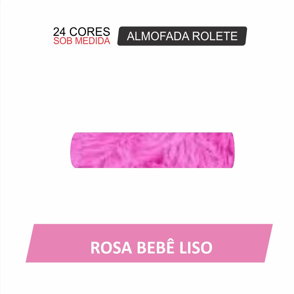 Almofada Rolete Felpuda - Capa 1,40X0,30X0,30 - 24 Opções Cores [843]