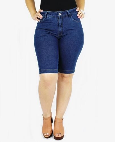 Bermuda Dinho's Jeans Basica Stone Feminina ref. 1141