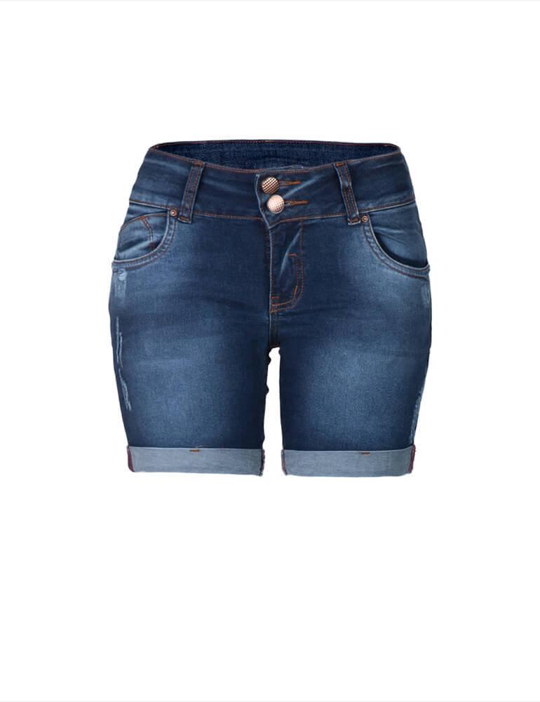 Bermuda Feminina Meia Coxa Fact Jeans ref. 02935