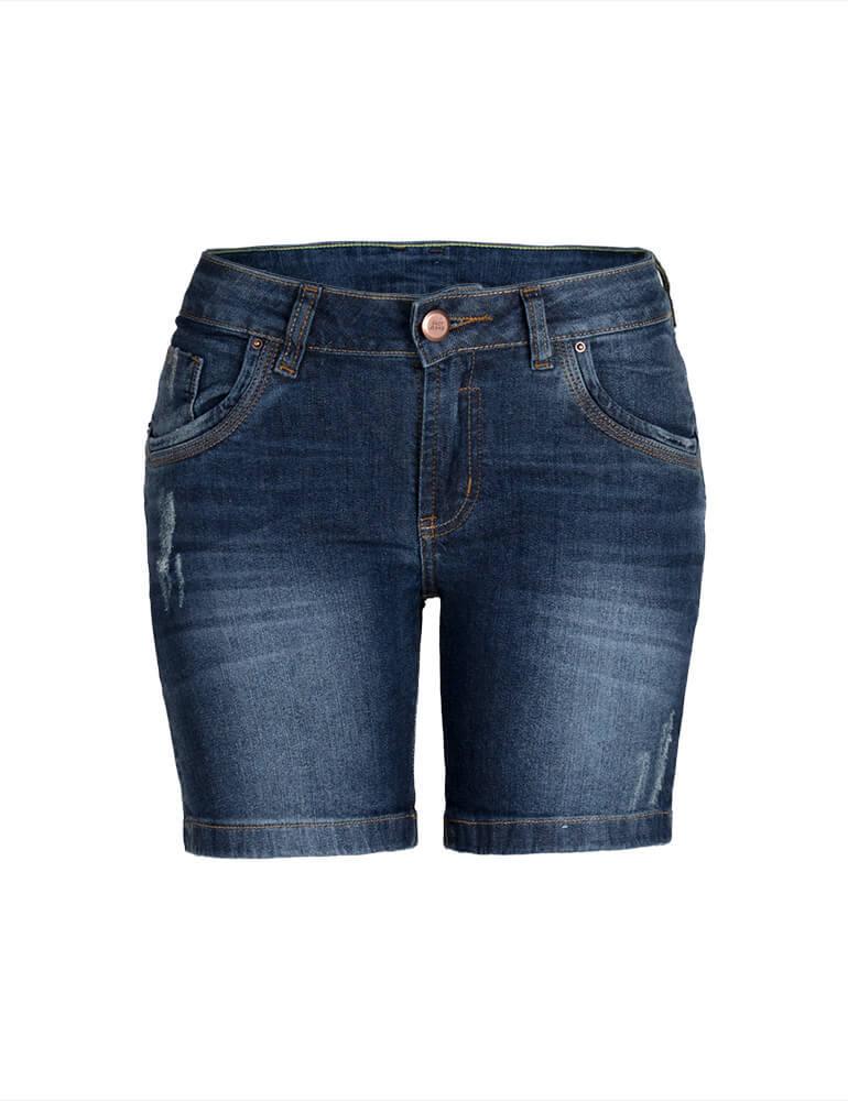 01d60ad73 Bermuda Feminina Meia Coxa Fact Jeans ref. 02986