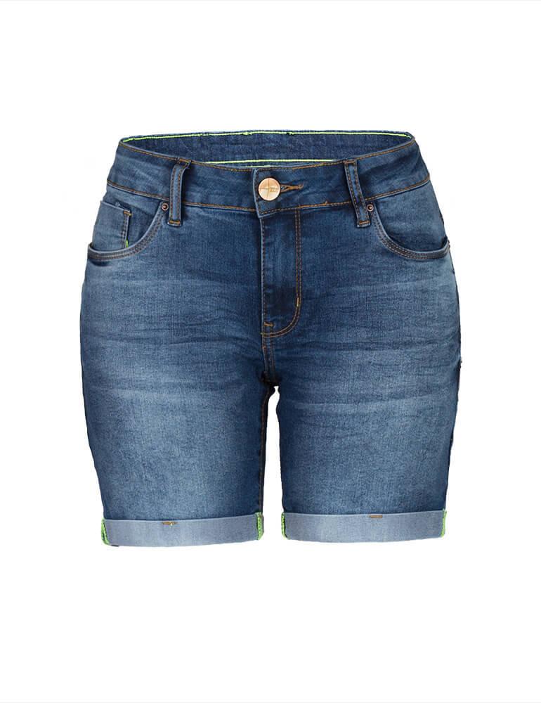 Bermuda Feminina Meia Coxa Fact Jeans [3006]