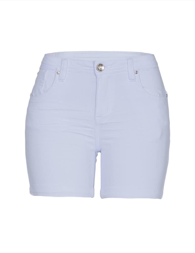Bermuda Feminina Meia Coxa Fact Jeans - Branca ref. 03481