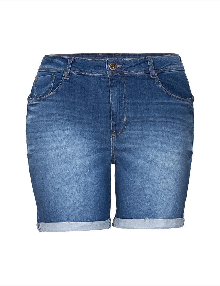 Bermuda Feminina Meia Coxa Fact Jeans Plus Size [3329]