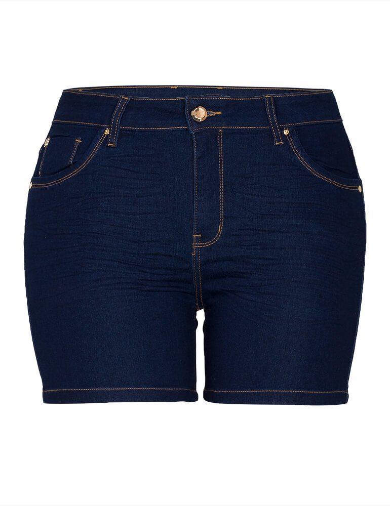 Bermuda Feminina Meia Coxa Fact Jeans Plus Size [3495]