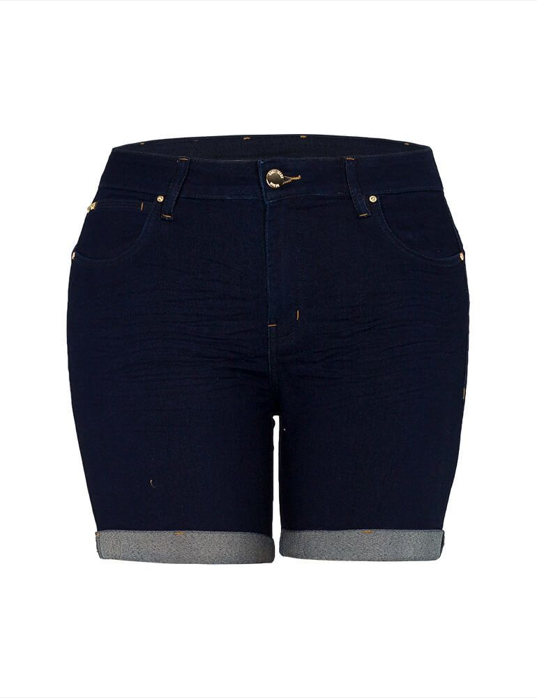 Bermuda Feminina Meia Coxa Fact Jeans Plus Size [3516]