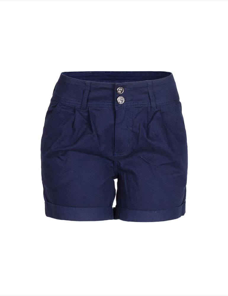 Bermuda Feminina Meia Coxa Fact Jeans Plus Size - Marinho [3059]