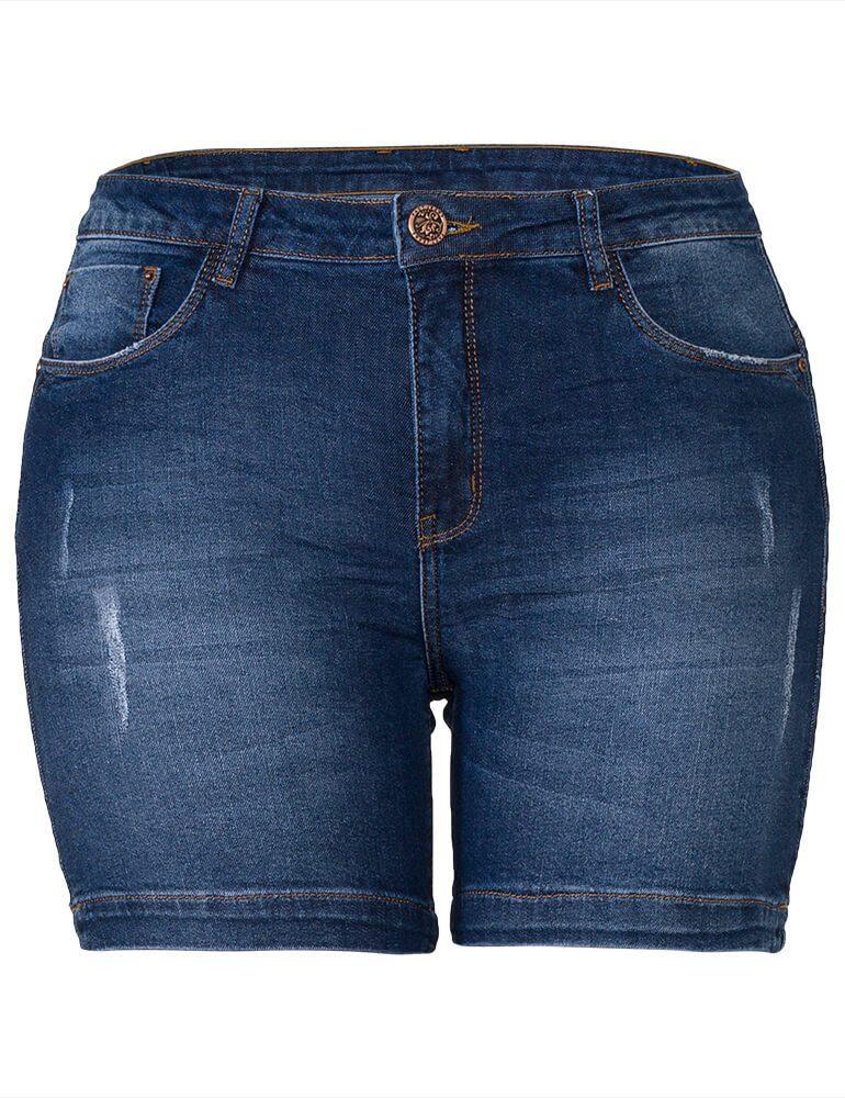 Bermuda Feminina Meia Coxa Fact Jeans Plus Size ref. 03861