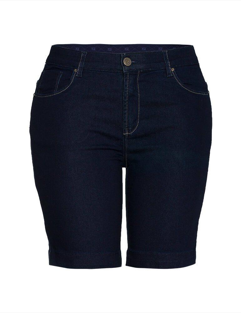 Bermuda Feminina Meia Coxa Fact Jeans Plus Size ref. 03909