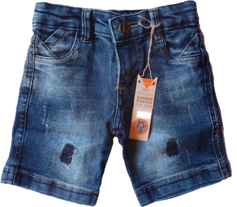 Bermuda Infantil jeans com detalhe de rasgo [302]