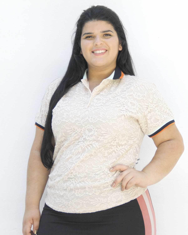 Blusa De Renda Polo Adelia Plus Size