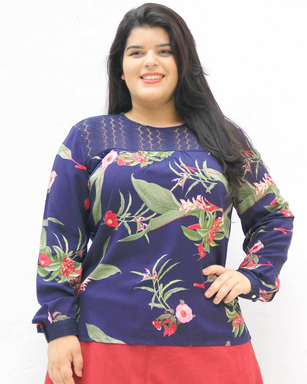 Blusa de Viscose Alcione Plus