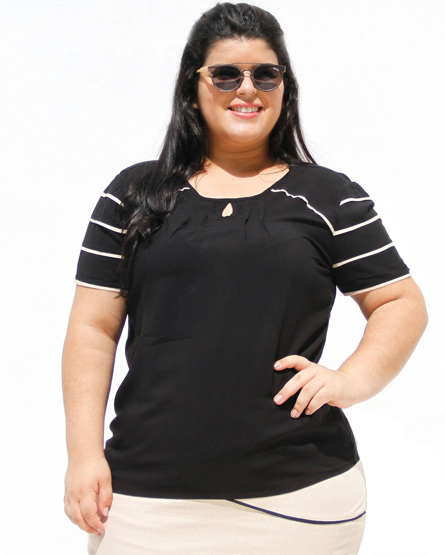 Blusa de Visoce Verena Plus Size
