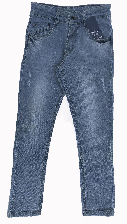 Calça Básica Masculina Infantil Jeans [629]
