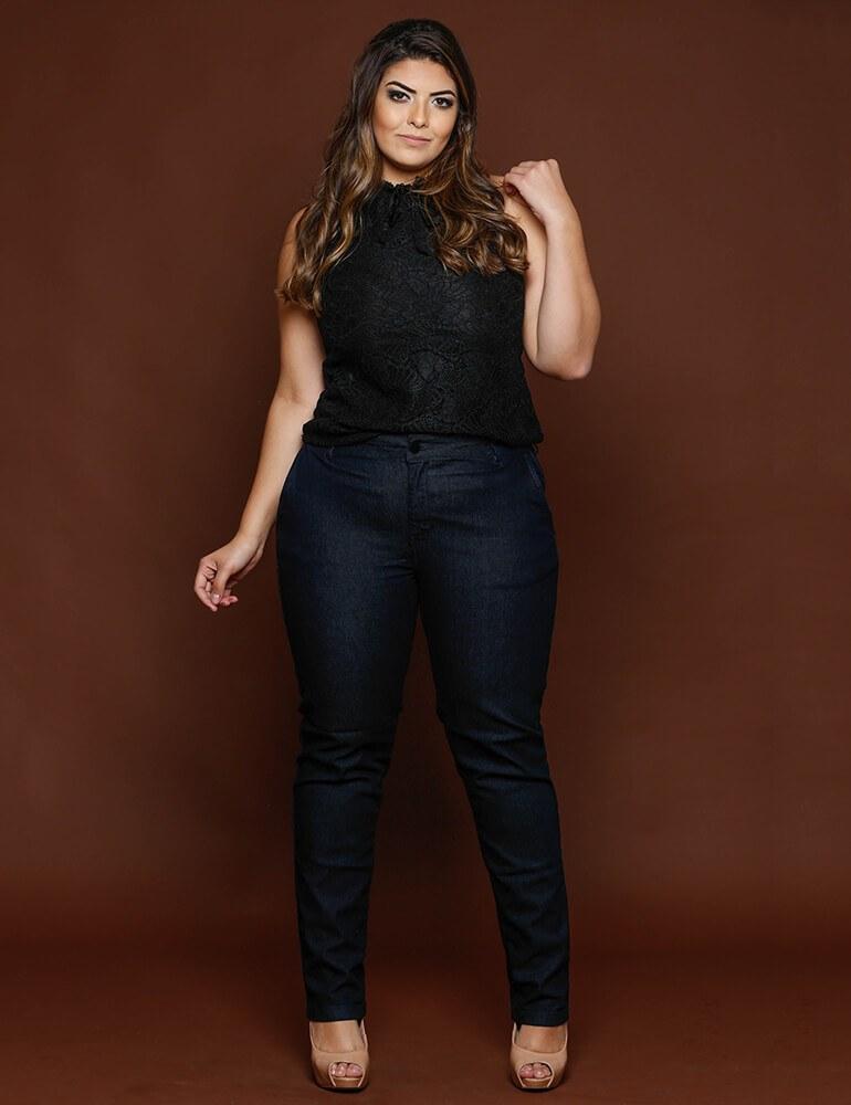 Calça Cigarrete Feminina Fact Jeans Plus Size ref. 03197