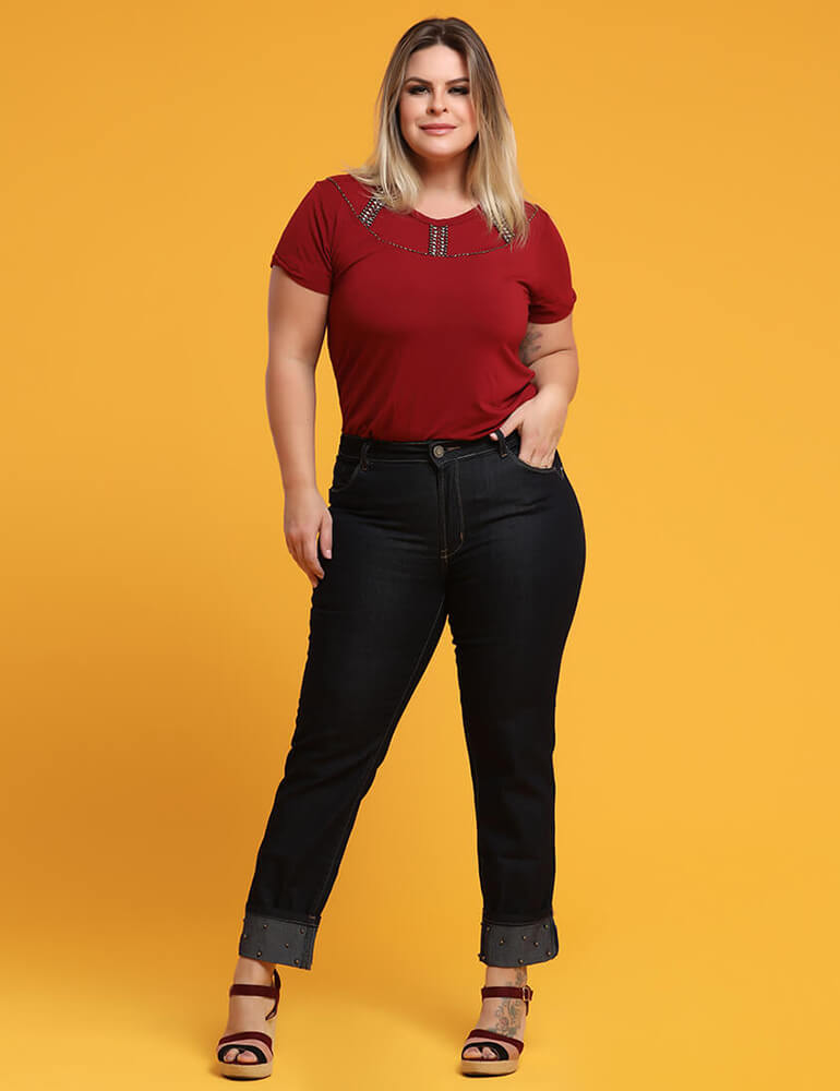 Calça Cigarrete Feminina Fact Jeans Plus Size ref. 03287