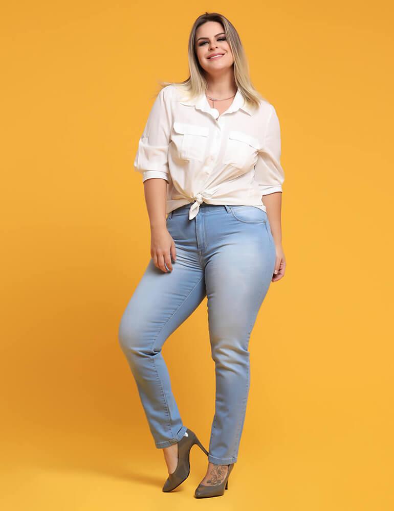 Calça Cigarrete Feminina Fact Jeans Plus Size ref. 03681