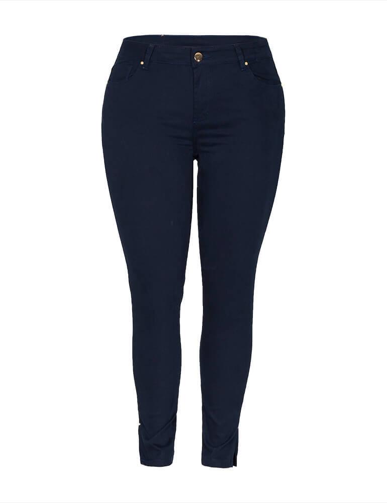 Calça Cropped Feminina Fact Jeans ref. 03674 - Marinho
